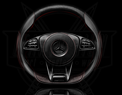 AMG GT custom steering wheel for a client