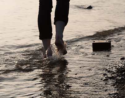barefoot in the water