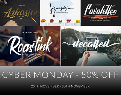CYBER MONDAY FONT - 50% OFF