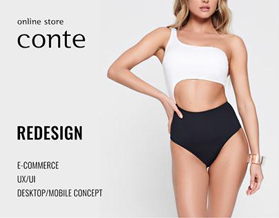 CONTE online store redesign (e-commerce)