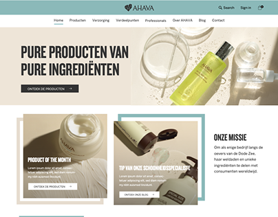 Webshop Ahava.be