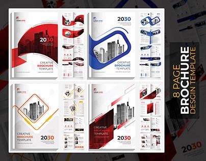 8 page Modern brochure design template