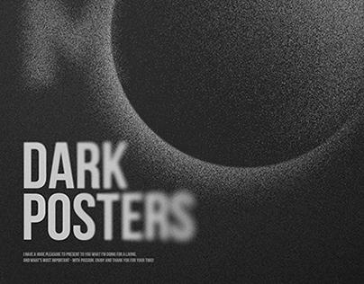 Moon. Dark Posters