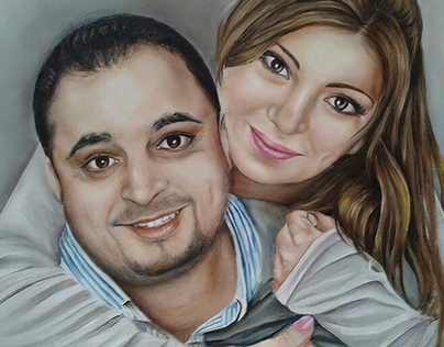Portrait OIL Painting (Hand Draw )