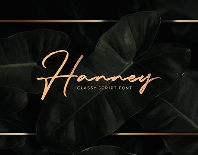Hanney Font