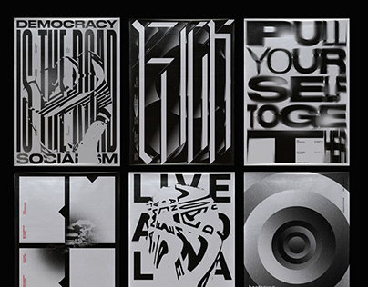 Black Typographic Posters