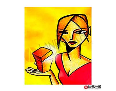 Illustrazioni brochure cosmetici