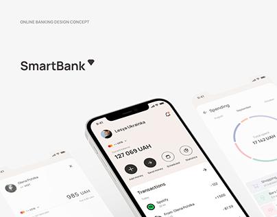 Smartbank - online banking app concept