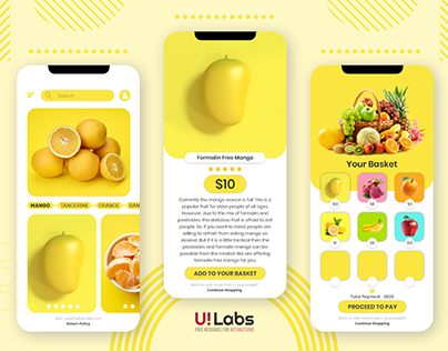 Fruit Basket Mobile UI