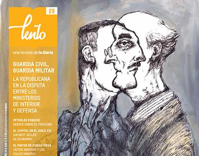Ilustraciones para nota de portada de Lento Nº29