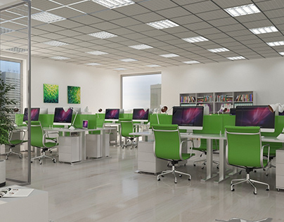 Office space 3D visualization