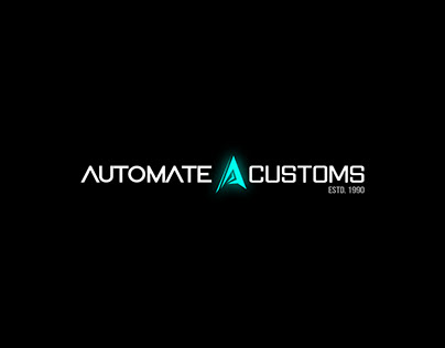 Auto Mate Customs logo design and brand identity