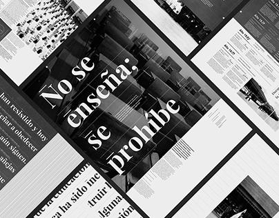 Editorial | No se Enseña, se Prohíbe