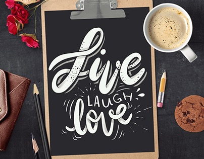 Live Laugh Love - Hand lettering art