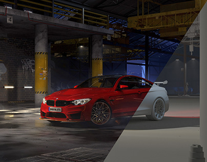 BMW M4 GTS | Underground factory race | Full CGI