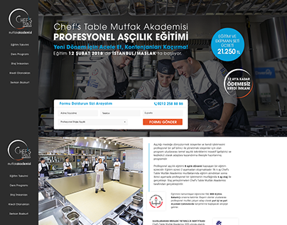 Chef's Landing Page