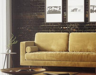 (Full CGI) Living room