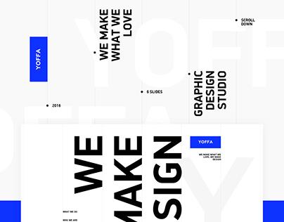 Yoffa design studio website