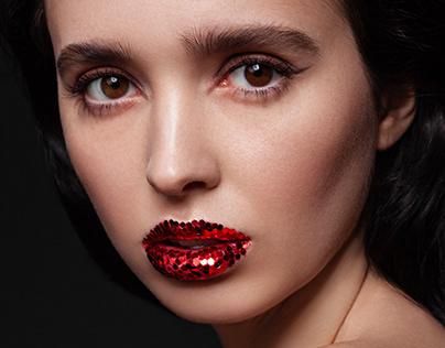 Beauty Glitter lips