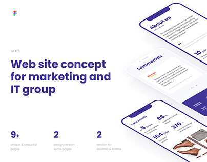 UI kit for web - marketing agency and IT group