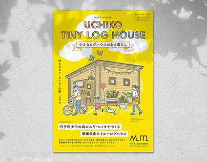 Flyer for UCHIKO TINY LOG HOUSE