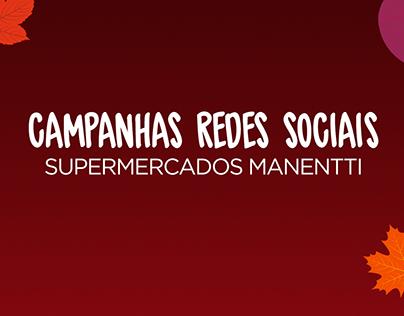 Campanhas redes sociais - Supermercados Manentti