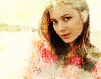 Girl in Desert Watercolor in Photoshop