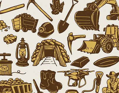 Old Mine Illustration Pack