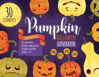 Halloween pumpkin generator