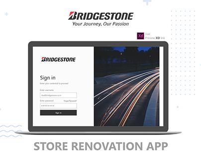 Bridgestone - Store Renovation App
