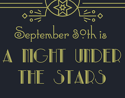 """""""A Night Under the Stars"""" Promotional Design"""