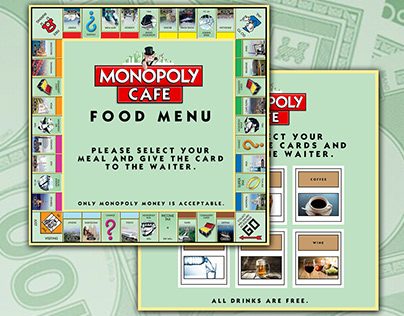 Monopoly Cafe Concept Design and Branding