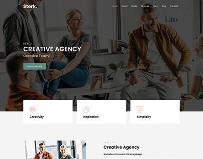Sterk Agency - Creative Agency & Personal Template