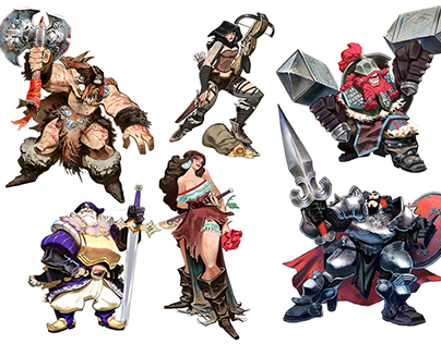 B-SIEGED Board game character designs