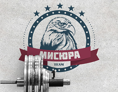 Logo for sports team in powerlifting