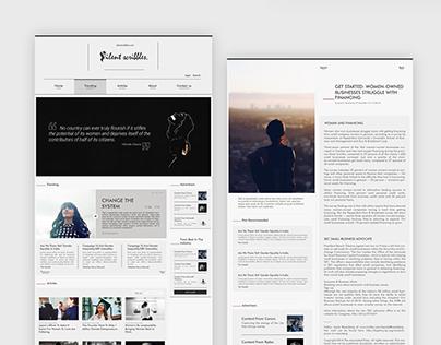 Website | Silent Scribbles