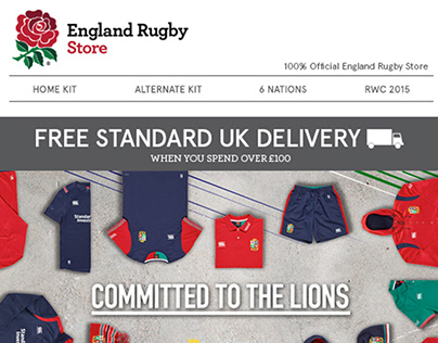 British Lions Training Email Campaign