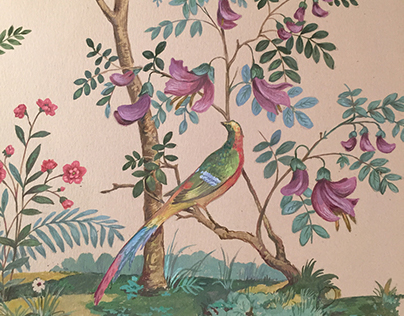 Birds and Flowers.