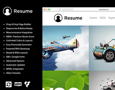 Resume WordPress Theme and Templates Banner