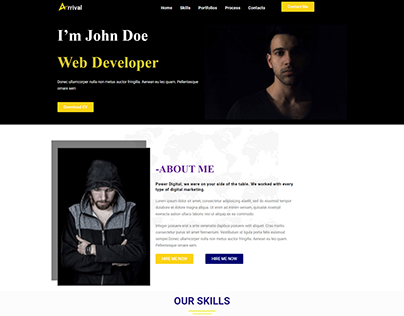 A Simple website about Portfolio