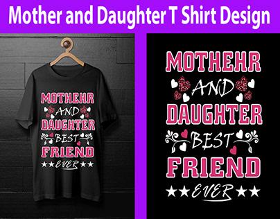 Mom & Daughter T-Shirt Design