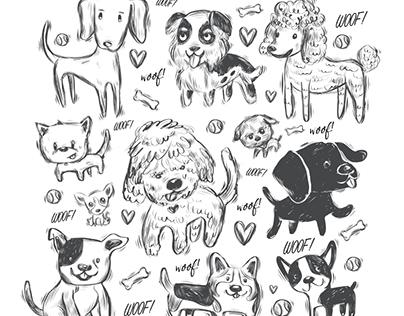 Favorite Dogs Pattern