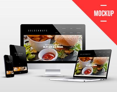 Multi Devices Responsive Website Mockup Pack
