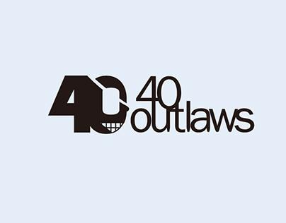 """""""40outlaws"""" LOGO DESIGN"""