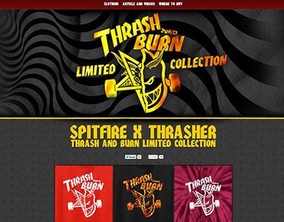 Spitfire x Thrasher - Thrash and Burn minisite
