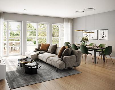 A distinguished living room