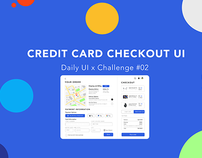 Daily UI Challenge #02 - Credit Card Checkout UI Design