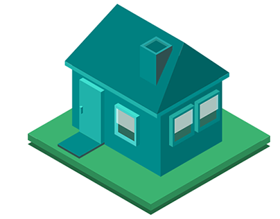Nice Blue Isometric House