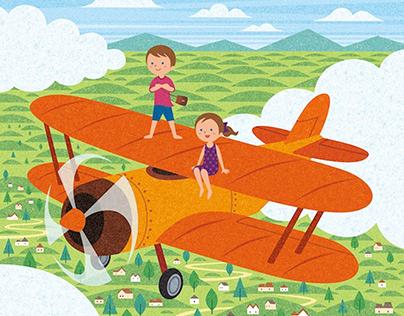 Airplane / digital work