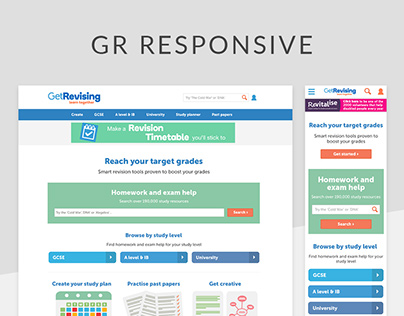 Get Revising responsive redesign